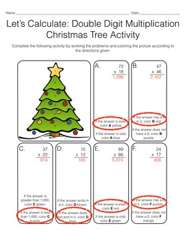 Let's Calculate: 2 & 3 Digit Multiplication Christmas Activities