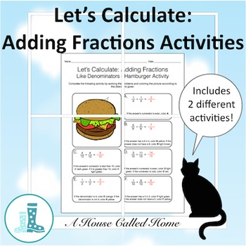 Let's Calculate: Adding Fractions Food Coloring Activity