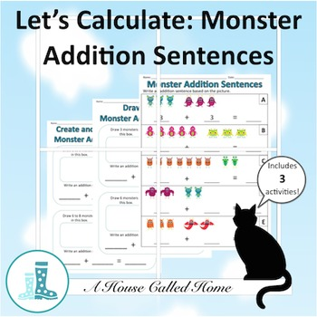 Let's Calculate: Monster Addition Sentences (sums to 10)
