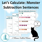 Let's Calculate: Monster Subtraction Sentences (numbers to 10)
