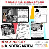 Black History Month in KINDERGARTEN!