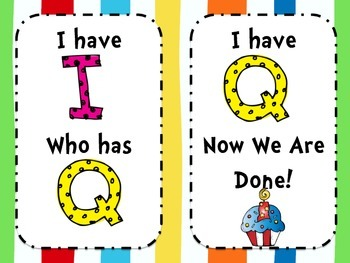 Let's Celebrate Reading {I Have! Who Has? ABC}