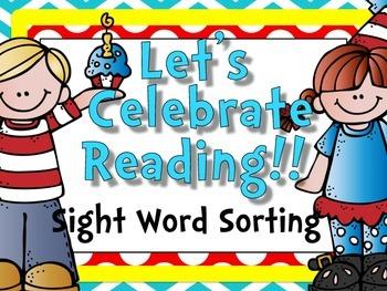 Let's Celebrate Reading {Sight Word Sort}