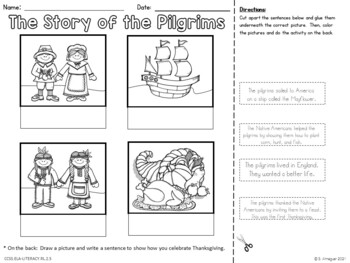 All About Thanksgiving - Literacy and Writing Activities {Common Core Aligned}