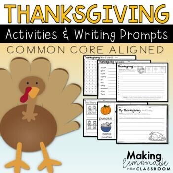 All About Thanksgiving - Literacy and Writing Activities {