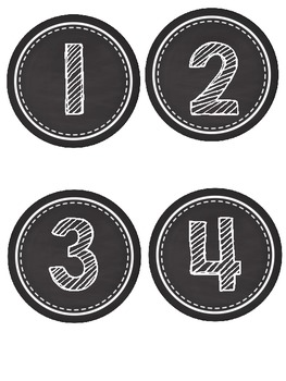 Let's Chalk About It! {Number posters with ten frames}