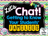 """""""Let's Chat!"""" FREE Resources for Getting to Know Your Stud"""