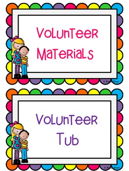Let's Cheer for Volunteers {organization packet}