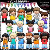 Let's Clap It Clip Art - Actions Kids Clip Art & B&W Set
