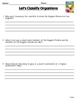 Let's Classify Organisms ReadyGen Grade 3 Lesson 15