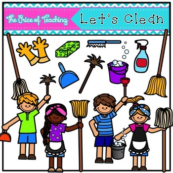 Let's Clean (The Price of Teaching Clipart Set)
