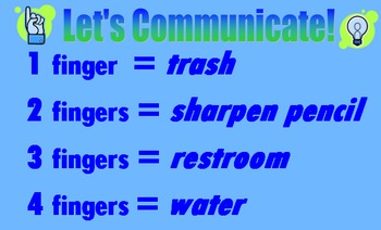 Let's Communicate sign
