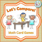 Comparing Numbers Card Games for Math Centers