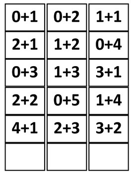 Let's Compare Numbers 0-5 Activity