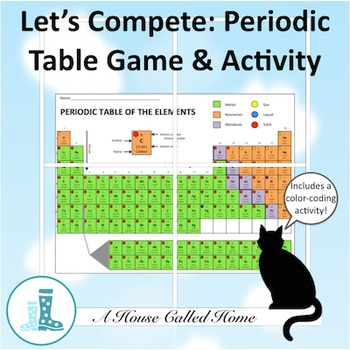 Blank periodic table teaching resources teachers pay teachers lets compete periodic table activity and game urtaz Choice Image