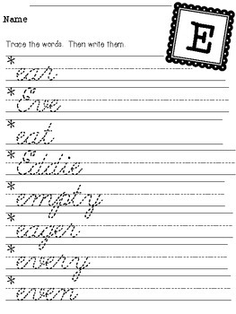 Let's Conquer Cursive {a cursive handwriting workbook}