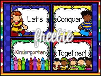 Back To School Freebie Posters ~ Let's Conquer {PK-2nd} Together!