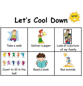 Let's Cool Down   Picture  Strategies for Cooling Down