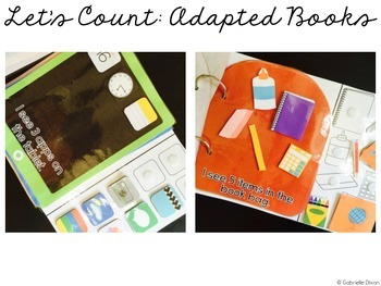 Let's Count: Adapted Books - BACK TO SCHOOL BUNDLE