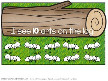 Let's Count! Ants on a Log Adapted Book