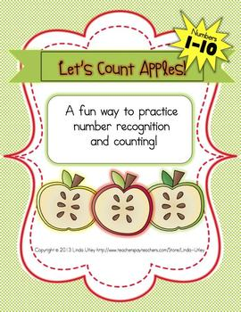 Apple Theme Numbers Worksheets