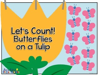 Let's Count! Butterflies on a Flower Adapted Book