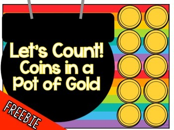 Let's Count! Coins in a Pot of Gold Adapted Book FREEBIE!