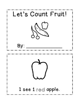 Let's Count Fruit Mini Book