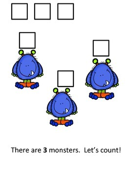 Let's Count Monsters!  Interactive Reader