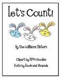 Let's Count Numeral Cards for Easter and Spring