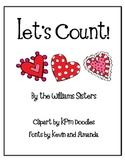 Let's Count Numeral Cards for February and Valentine's Day