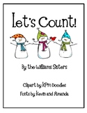Let's Count Numeral Cards for January
