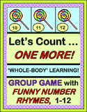 """""""Let's Count-- One More!"""" -- Sequence Numbers 1-12 with Number Rhymes"""