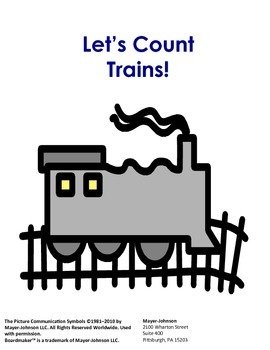 Let's Count Trains!  Interactive Reader