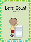 Let's Count to 20- Kindergarten Math