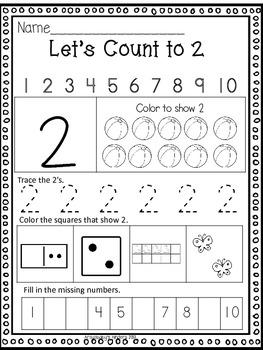Let's Count to 20- Kindergarten Math