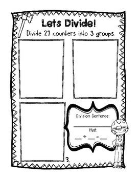 Let's Divide! Division Work Mats