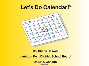 """""""Let's Do Calendar!"""" - September 2014 SmartBoard Calendar"""
