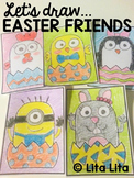 Let's Draw Easter Friends FREEBIE