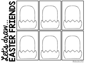 Let's Draw Easter Friends FREEBIE