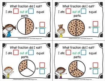 Fractions - Let's Eat Fractions {Naming Fractions Set}