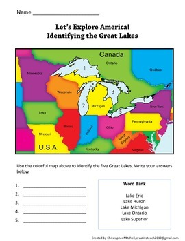 Let\'s Explore America: Find States, Landforms, and Bodies of Water on a Map