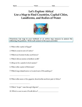 Let's Explore the Continents: Use Map Skills to Find Places Around the World
