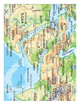 Let's Explore the Middle East: Find Countries and More on a Map