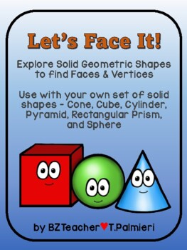 Let's Face It! - Solid shapes - faces and vertices
