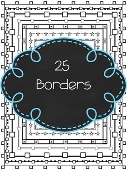 """Let's Feed Your Border Need!"" Page Borders/Frames"