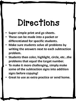 Let's Find the Difference Subtraction 1-10