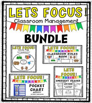 Lets Focus! Classroom Management Literacy Pack BUNDLE