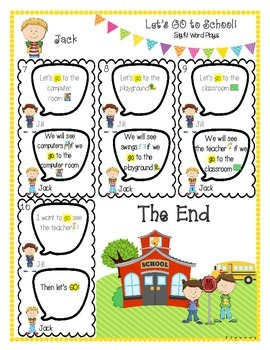 Let's GO To School (Sight Word Play)