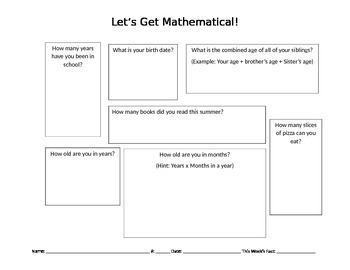 Let's Get Mathematical!